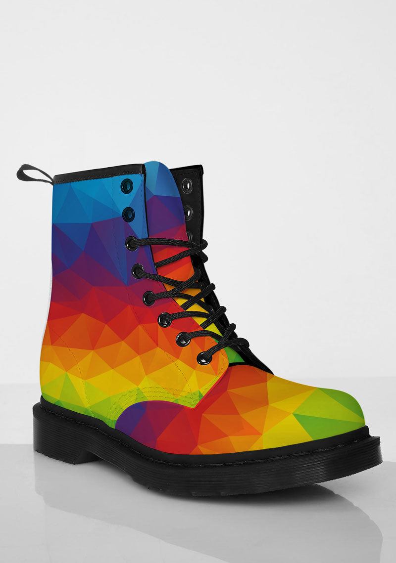 Rainbow Boots - CustomKiks Shoes