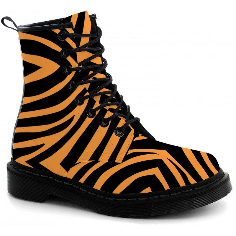Tiger Stripes Boots - CustomKiks Shoes