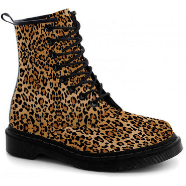 Leopard Print Boots - CustomKiks Shoes