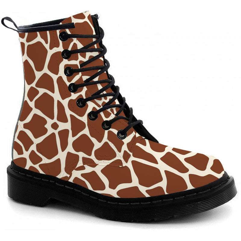 Giraffe Print Boots - CustomKiks Shoes