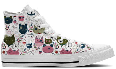 White Kitty - CustomKiks Shoes
