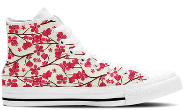 Cherry Blossom White - CustomKiks Shoes