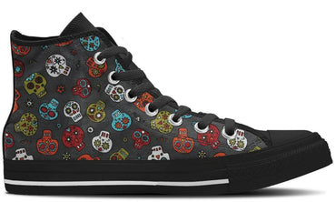Colorful Skulls - CustomKiks Shoes