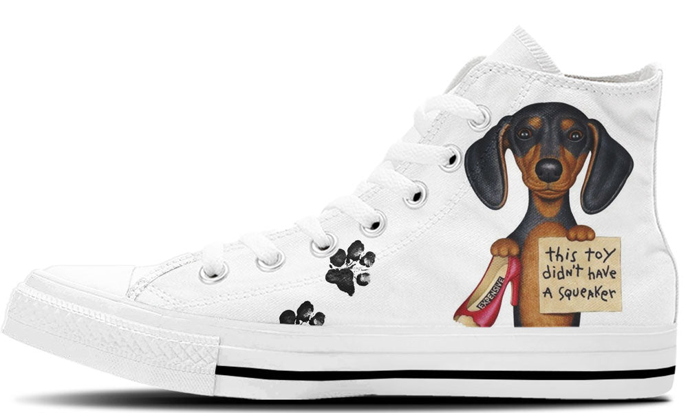 Naughty Dachshund - CustomKiks Shoes