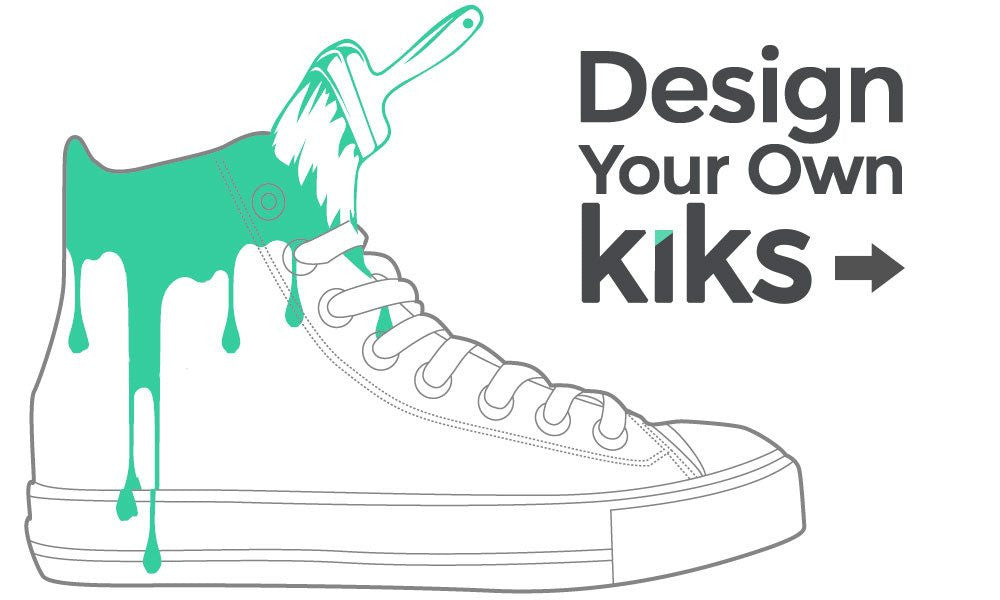 design your own high or low tops custom canvas shoes at customkiks