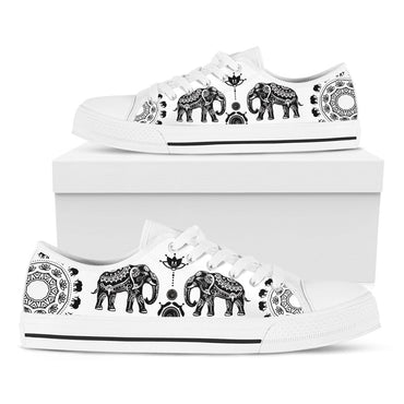 Ethnic Elephant Casual White