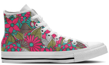 Floral Collage White - CustomKiks Shoes