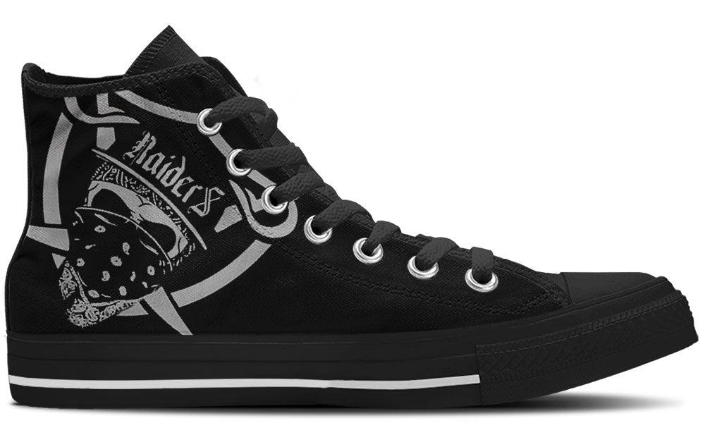 Oakland Raiders Shoes - High Top