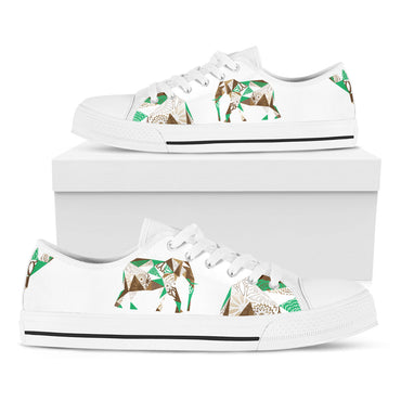 Mosaic Elephant White Casual