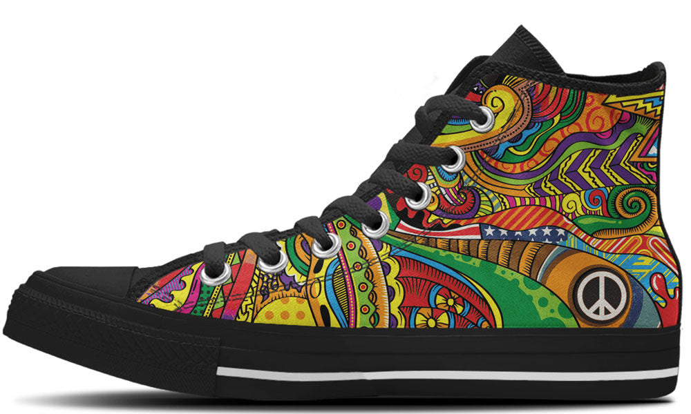 Peace of Color - CustomKiks Shoes
