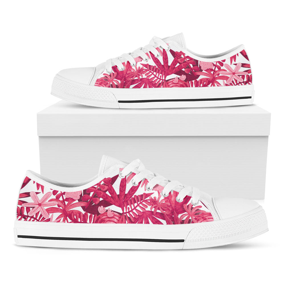 Pink Foliage Casual Shoes