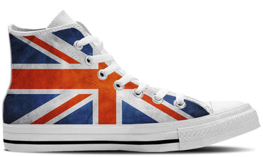 UK Flag White - CustomKiks Shoes