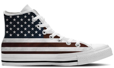 US Flag White - CustomKiks Shoes