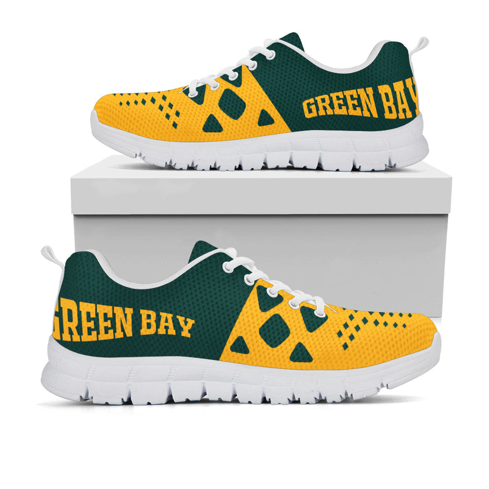 low priced 5aeab 39b46 Green Bay Packers Colors - CustomKiks Shoes