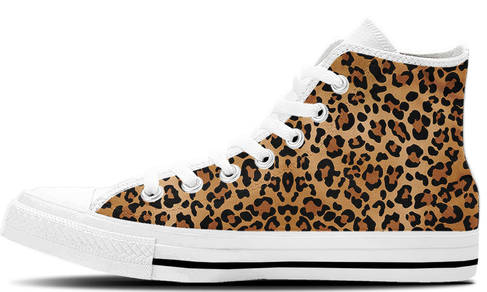 Leopard Print High Tops - CustomKiks Shoes