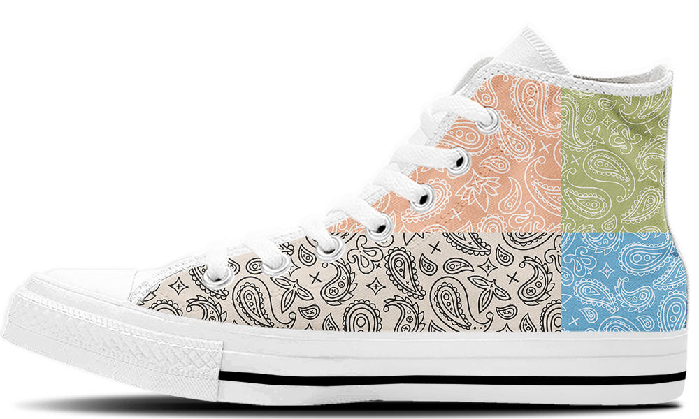 Mixed Pastel Paisley High Tops