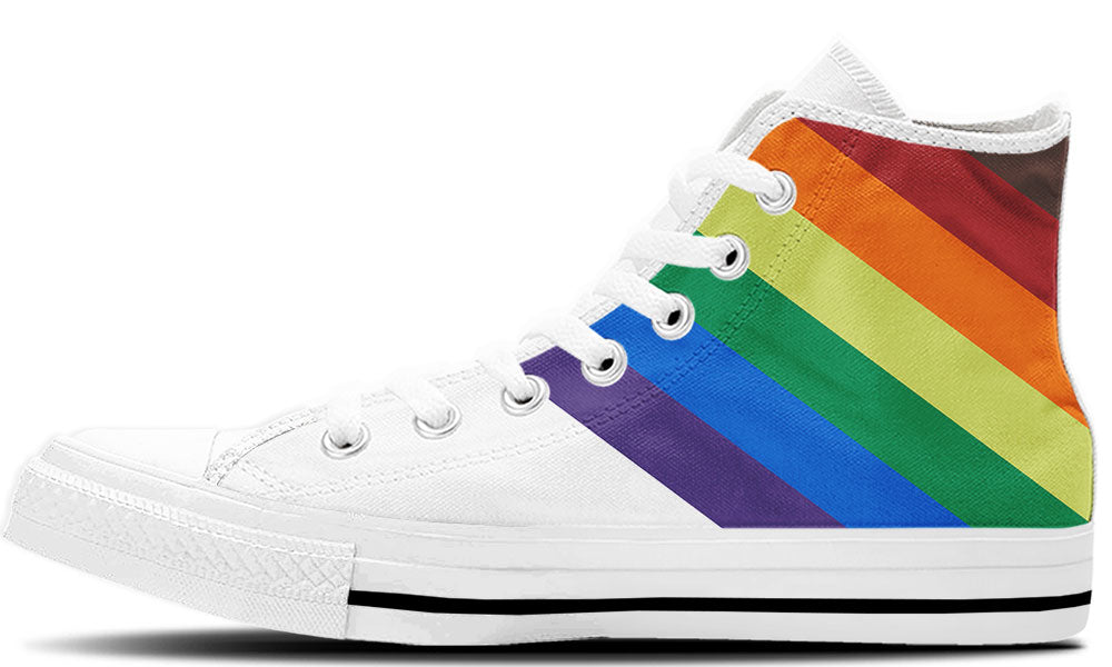 Rainbow Band High Tops