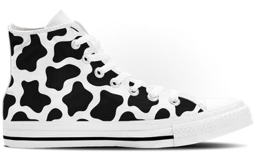 Cow Print High Tops - CustomKiks Shoes