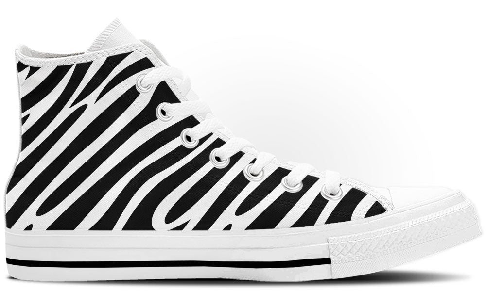 Zebra Print High Tops - CustomKiks Shoes