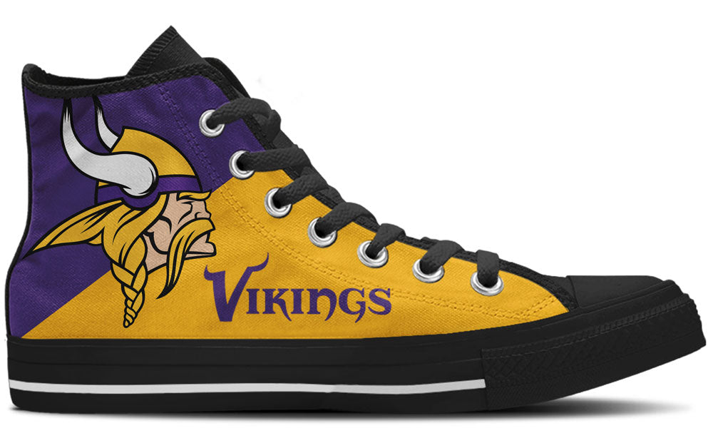 Vikings Black High Tops
