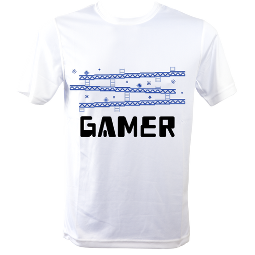 Gamer Running T Shirt to make you smile White