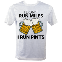 I Run Pints Running T Shirt Grey