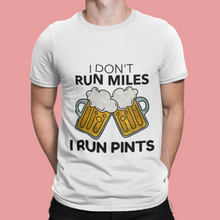 I Run Pints Running T Shirt White