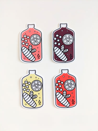 4-Piece Growler Sticker Set