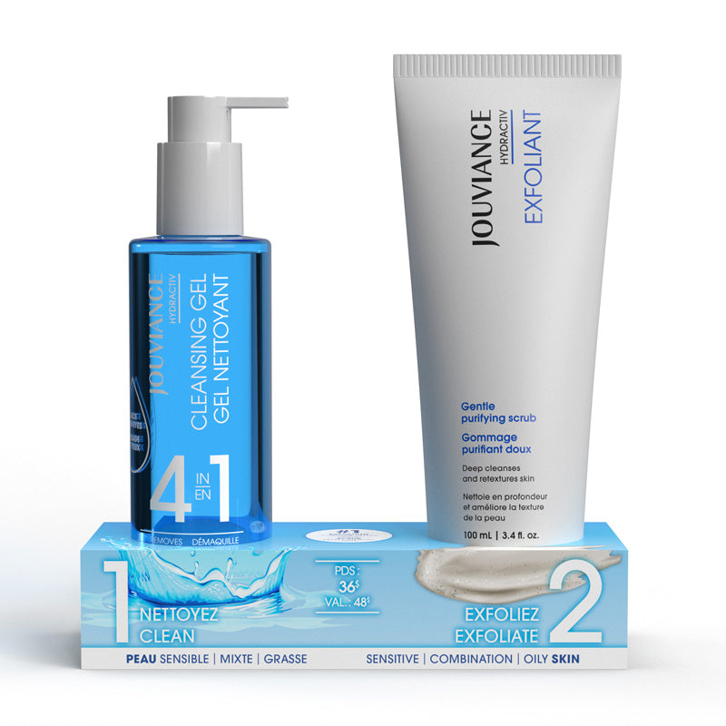 Hydractiv Exfoliant and Cleansing Gel Duo