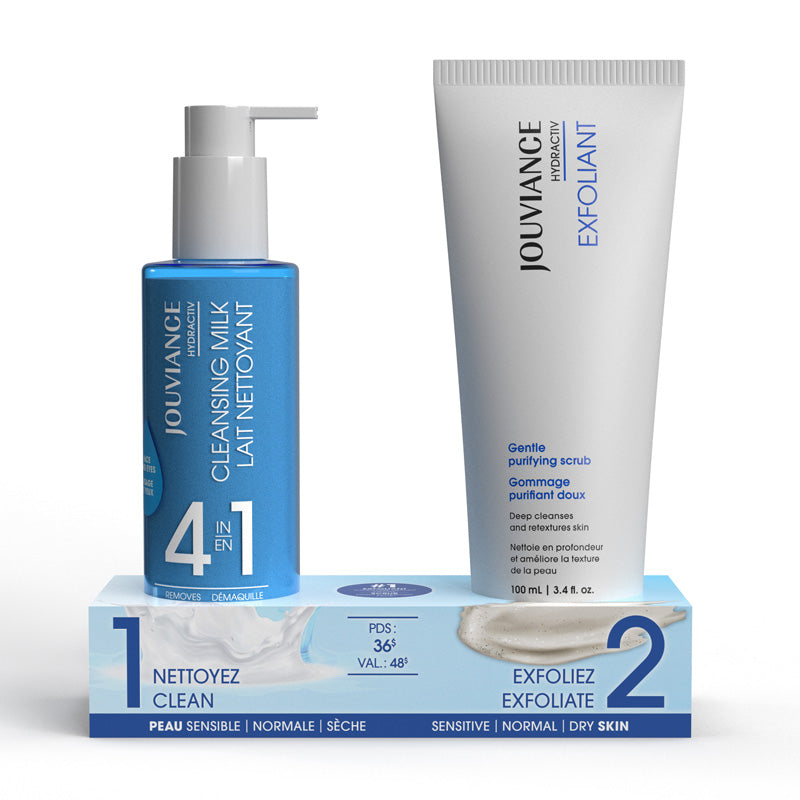 Hydractiv Exfoliant and Cleansing Milk Duo