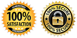 security & 100% guaranty badges