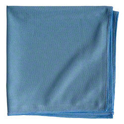 Microfiber Silky Smooth Blue Glass Cloth