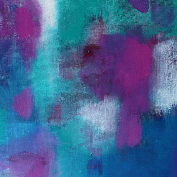 Abstract Art Print - Plum Aqua Jewels 1 | Charlie Albright for Moments by Charlie