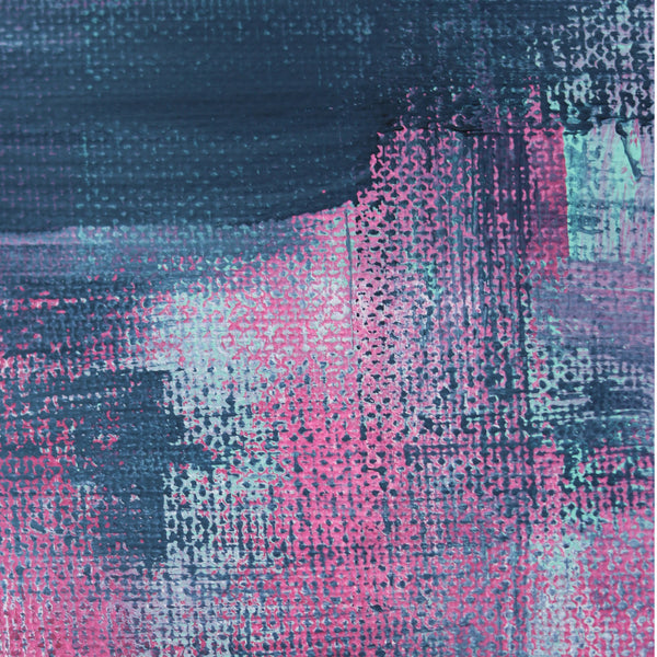 Abstract Art Print - Pink Denim 1 | Charlie Albright for Moments by Charlie