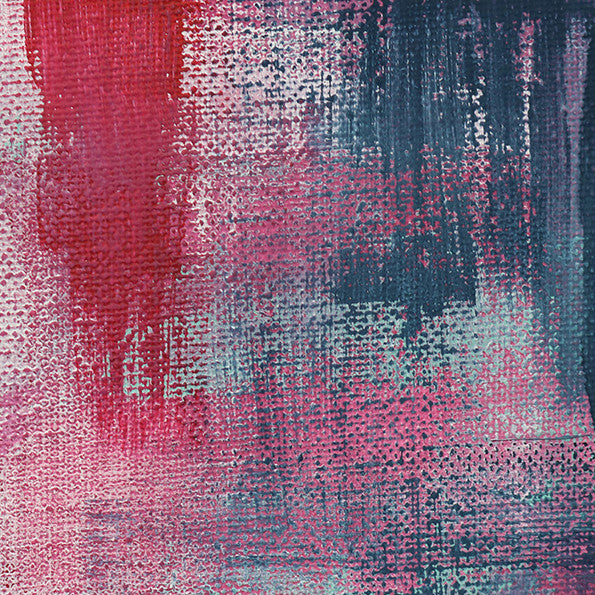 Abstract Art Print - Pink Denim 3 | Charlie Albright for Moments by Charlie