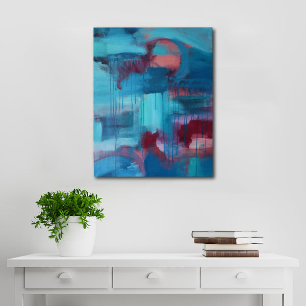 Abstract Acrylic Canvas Art - Colour Fields | Charlie Albright for Moments by Charlie
