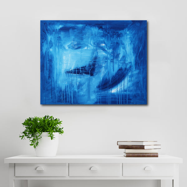 Abstract Acrylic Canvas Art - In The Night Sky | Charlie Albright for Moments by Charlie