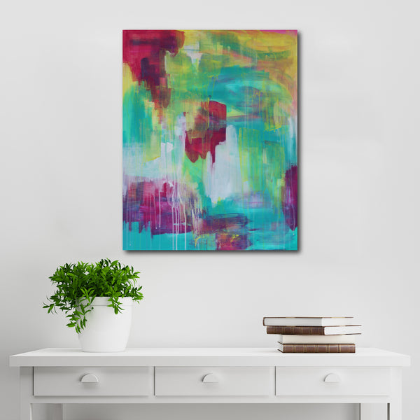 Abstract Acrylic Canvas Art - Nightingale | Charlie Albright for Moments by Charlie