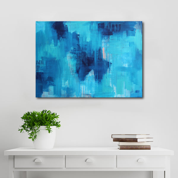 Abstract Acrylic Canvas Art - One Day In Summer - by Charlie Albright for Moments by Charlie Online Shop