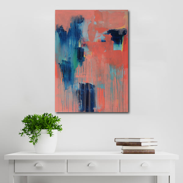 Abstract Acrylic Canvas Art - Phthalo Love | Charlie Albright for Moments by Charlie