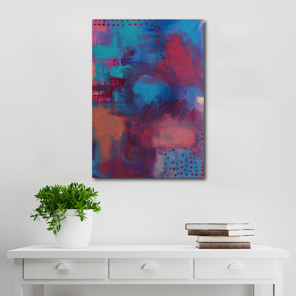 Abstract Acrylic Canvas Art - Soft Feathers - by Charlie Albright for Moments by Charlie Online Shop