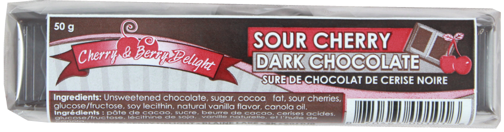 Sour Cherry Dark Chocolate Bar