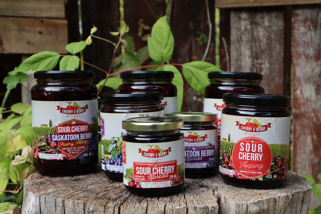 The Full Bundle of Sour Cherry and Saskatoon Berry Products