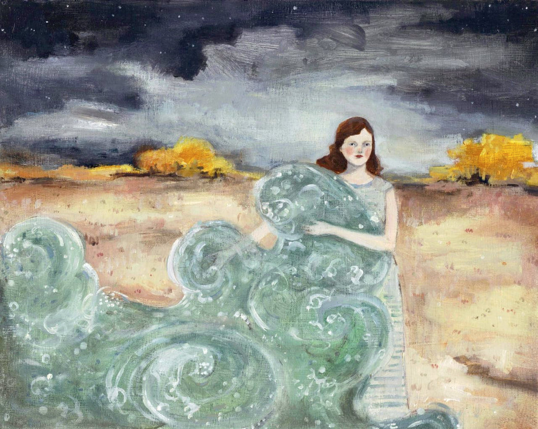 she carried with her the sea - limited edition print of original oil painting