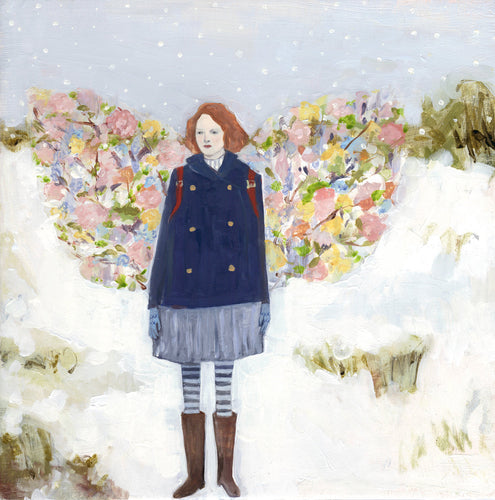 tess wore wings made of spring - limited edition giclee print of original oil painting