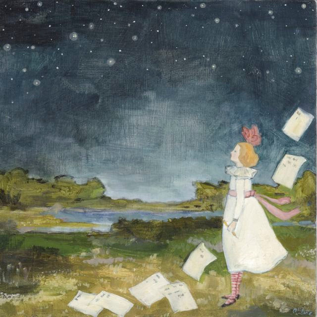 lucy counts the stars - limited edition print
