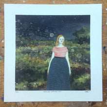 memories followed her - limited edition giclee print of original oil painting