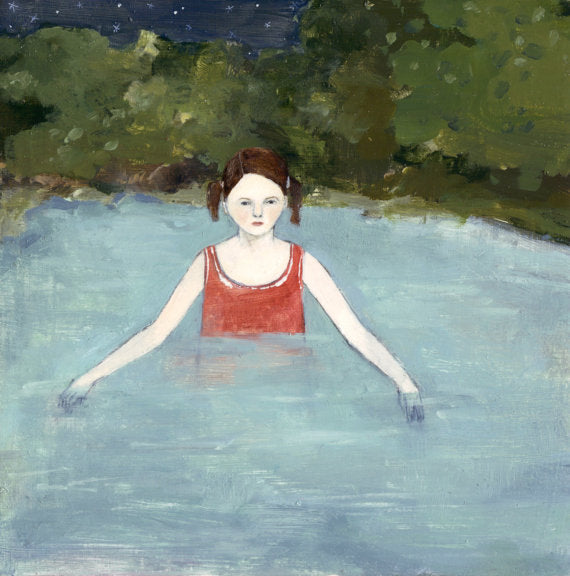 natalie searched the waters for answers - giclee print of original oil painting