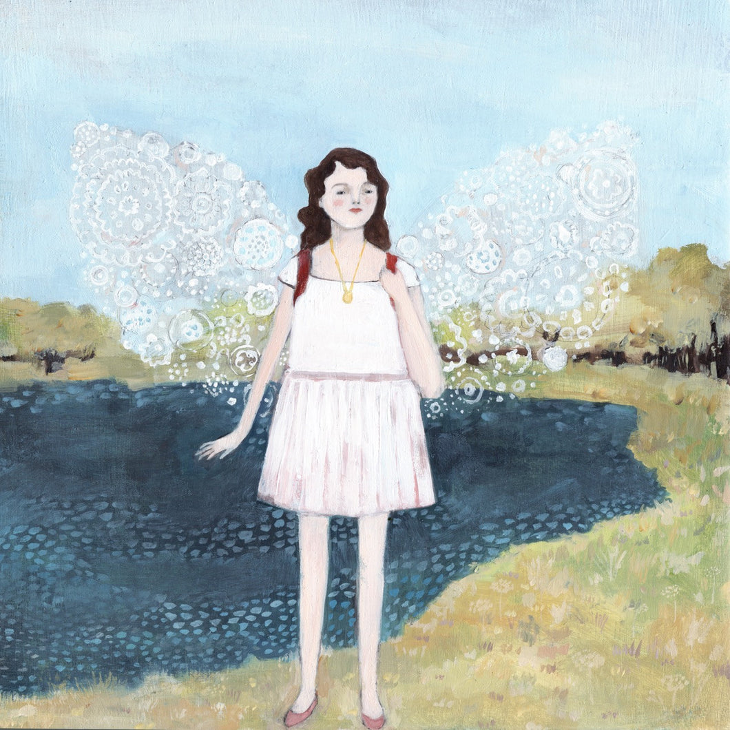 anya wore wings made of winter - limited edition print
