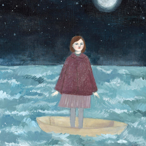 She put her trust in the moon - limited edition giclee print